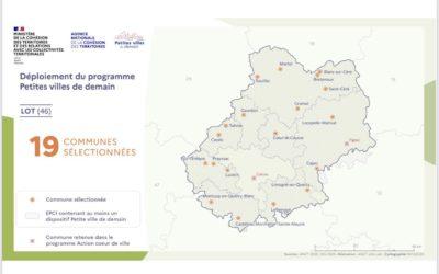 19 communes lotoises lauréates du programme « Petites villes de demain » !