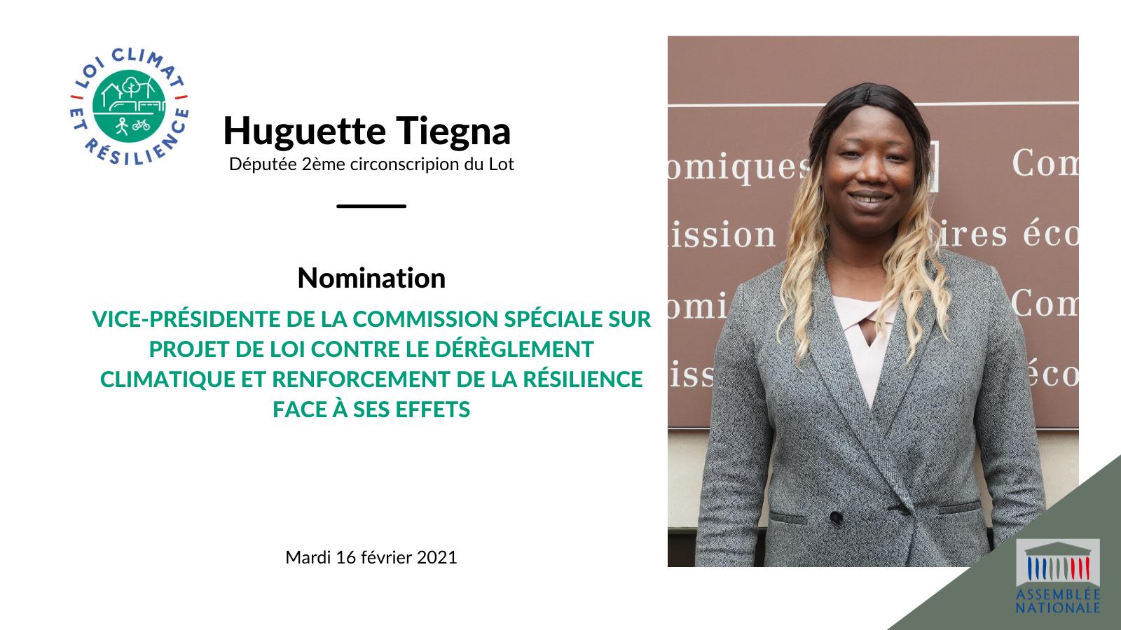 Huguette Tiegna nommée Vice-Présidente de la commission spéciale