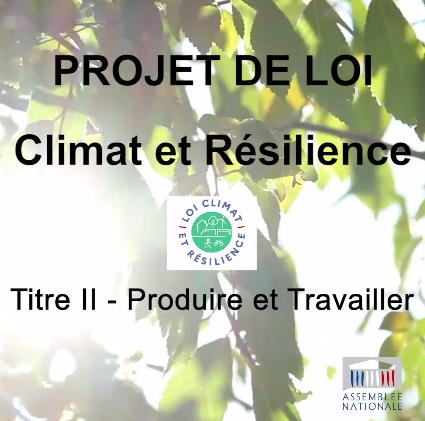 PROJET DE LOI CLIMAT ET RÉSILIENCE – TITRE II