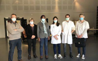Visite le centre de vaccination de Limogne-en-Quercy