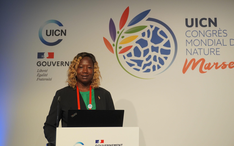 Au Congrès mondial sur la Nature, Huguette Tiegna mène le débat !